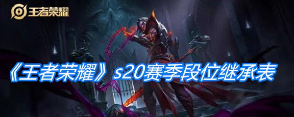 《王者荣耀》s20赛季段位继承表