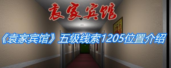 《孙美琪疑案:袁家宾馆》五级线索1205位置介绍