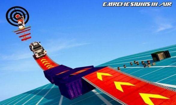 空中坡道汽车特技3D破解版