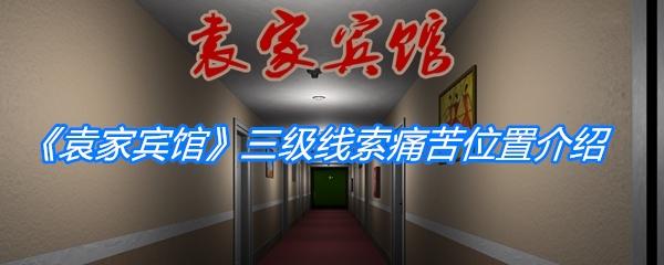 《孙美琪疑案:袁家宾馆》三级线索痛苦位置介绍