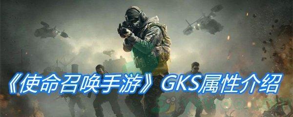 《使命召唤手游》GKS属性介绍
