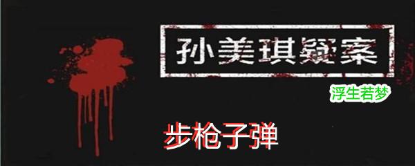 《孙美琪疑案:浮生若梦》五级线索步枪子弹