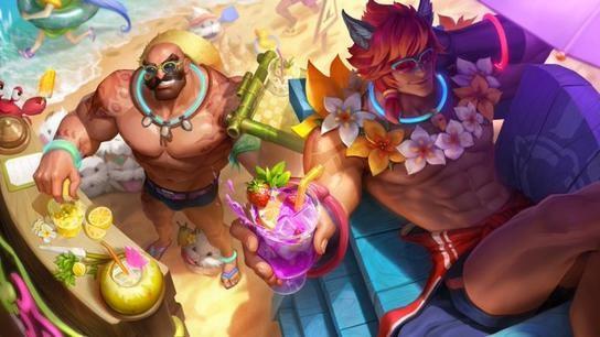 《LOL》泳池派对瑟提皮肤展示