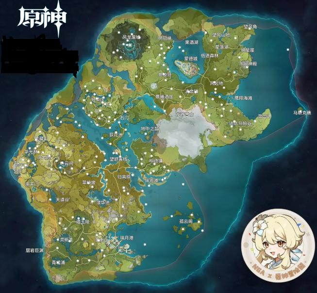 《原神》131个岩神瞳位置高清图