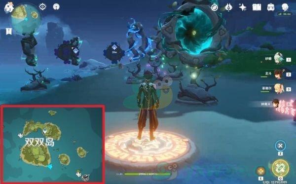 《原神》双双岛魔环元素靶盘解谜攻略